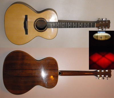 Double-top latice guitar by Alan Arnold