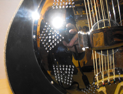 Black Chrome Resonator Guitar by Alan Arnold